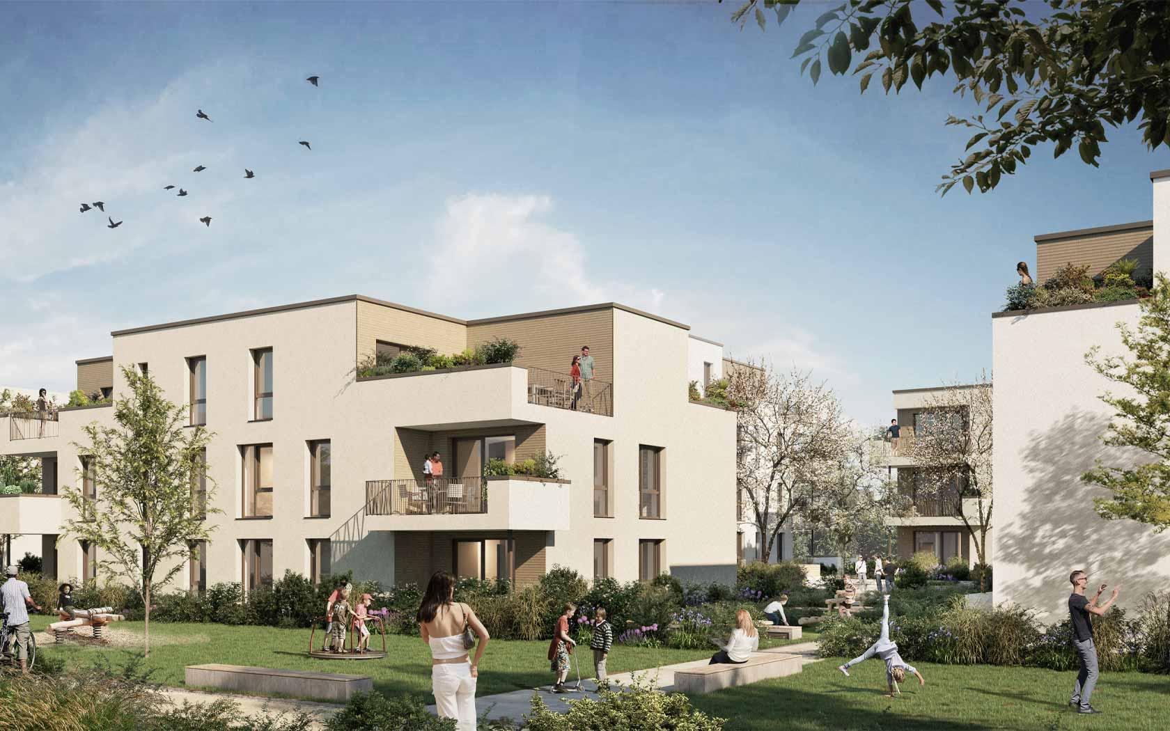 Pfleiderer Projektbau: Objekt WOHNEN IM GRÜN, Weinstadt-Endersbach