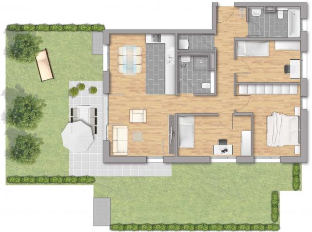 Pfleiderer Projektbau: Heisse Klinge, Grundriss Haus 6 Wohnung 03