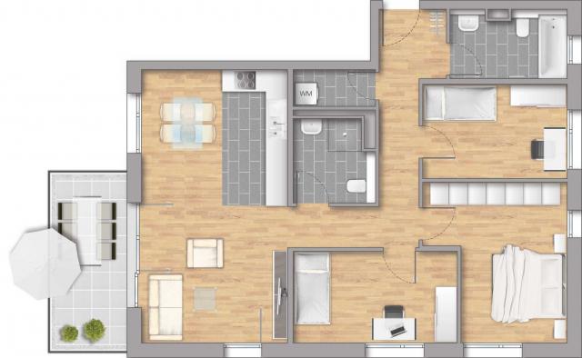 Pfleiderer Projektbau: Heisse Klinge, Grundriss Haus 7 Wohnung 06