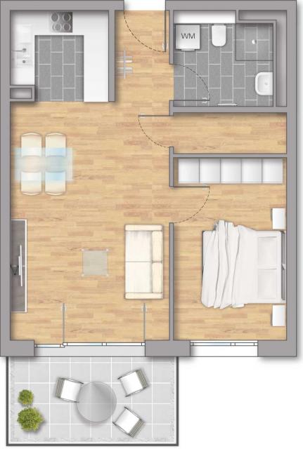 Pfleiderer Projektbau: Heisse Klinge, Grundriss Haus 8 Wohnung 05