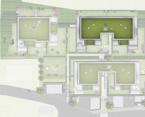 Pfleiderer Projektbau: Rudersberg Oberndorf - Lageplan Haus B
