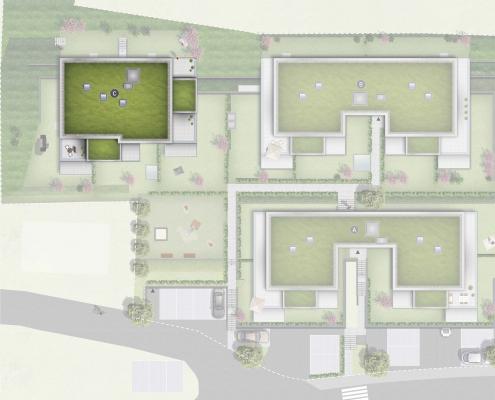 Pfleiderer Projektbau: Rudersberg Oberndorf - Lageplan Haus C