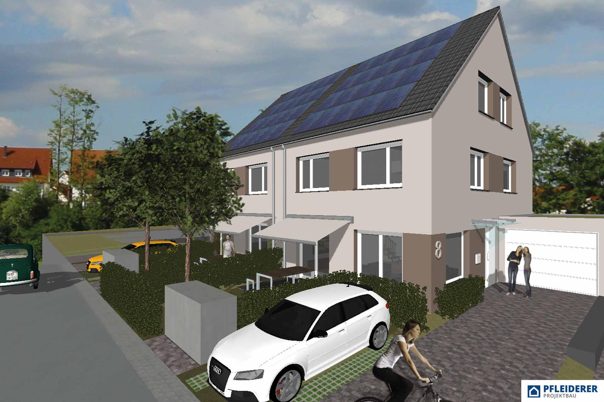 Pfleiderer Projektbau: Doppelhäuser Schwaikheim