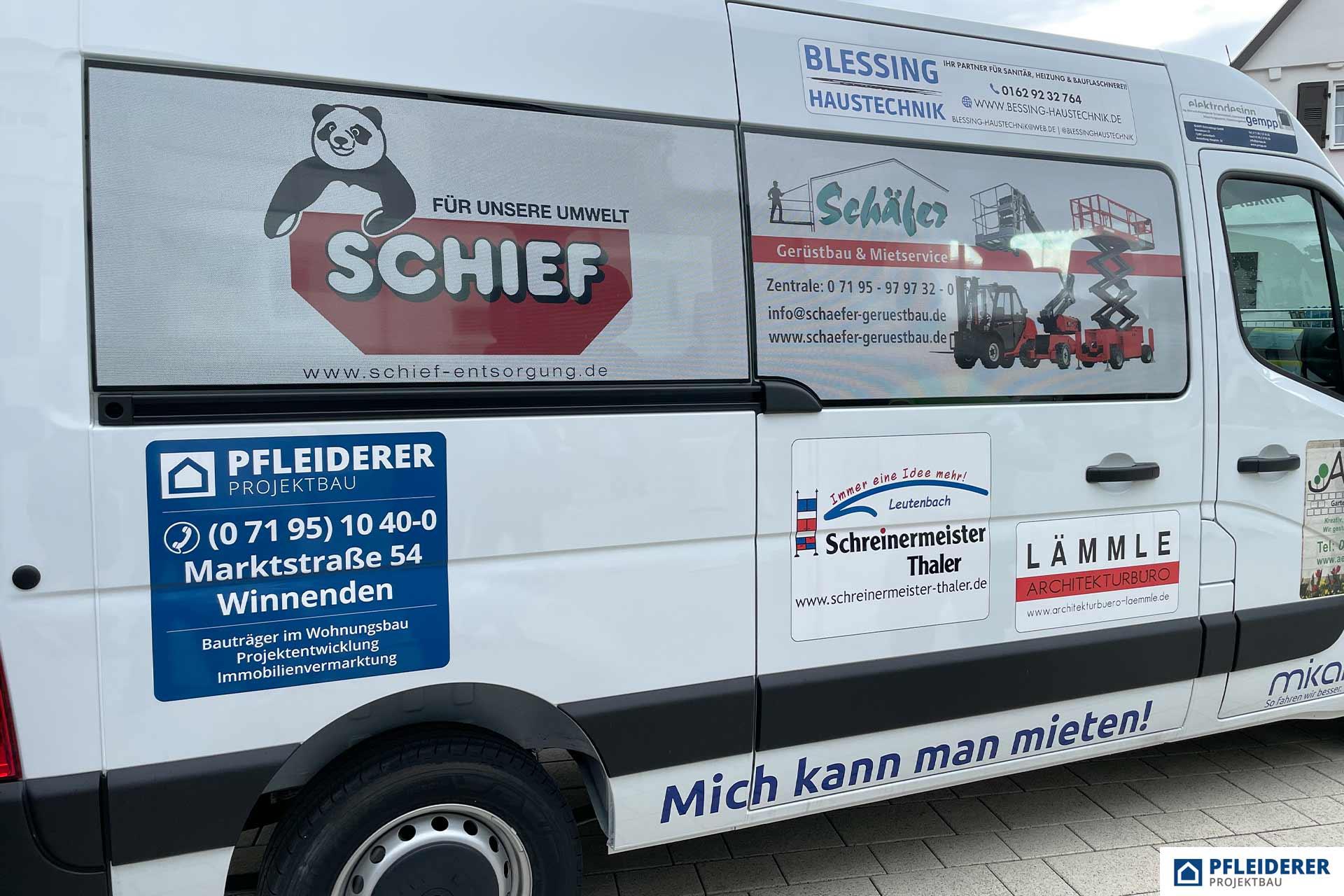 Pfleiderer Projektbau: Gemeindemobil Leutenbach