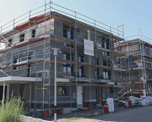 Baustatus: MITTELPUNKT, Doppelhaushälften