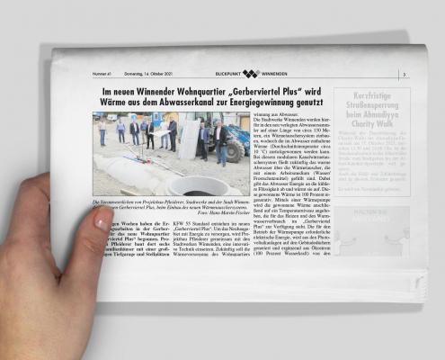 Zeitungsartikel PFLEIDERER: GERBERVIERTEL PLUS