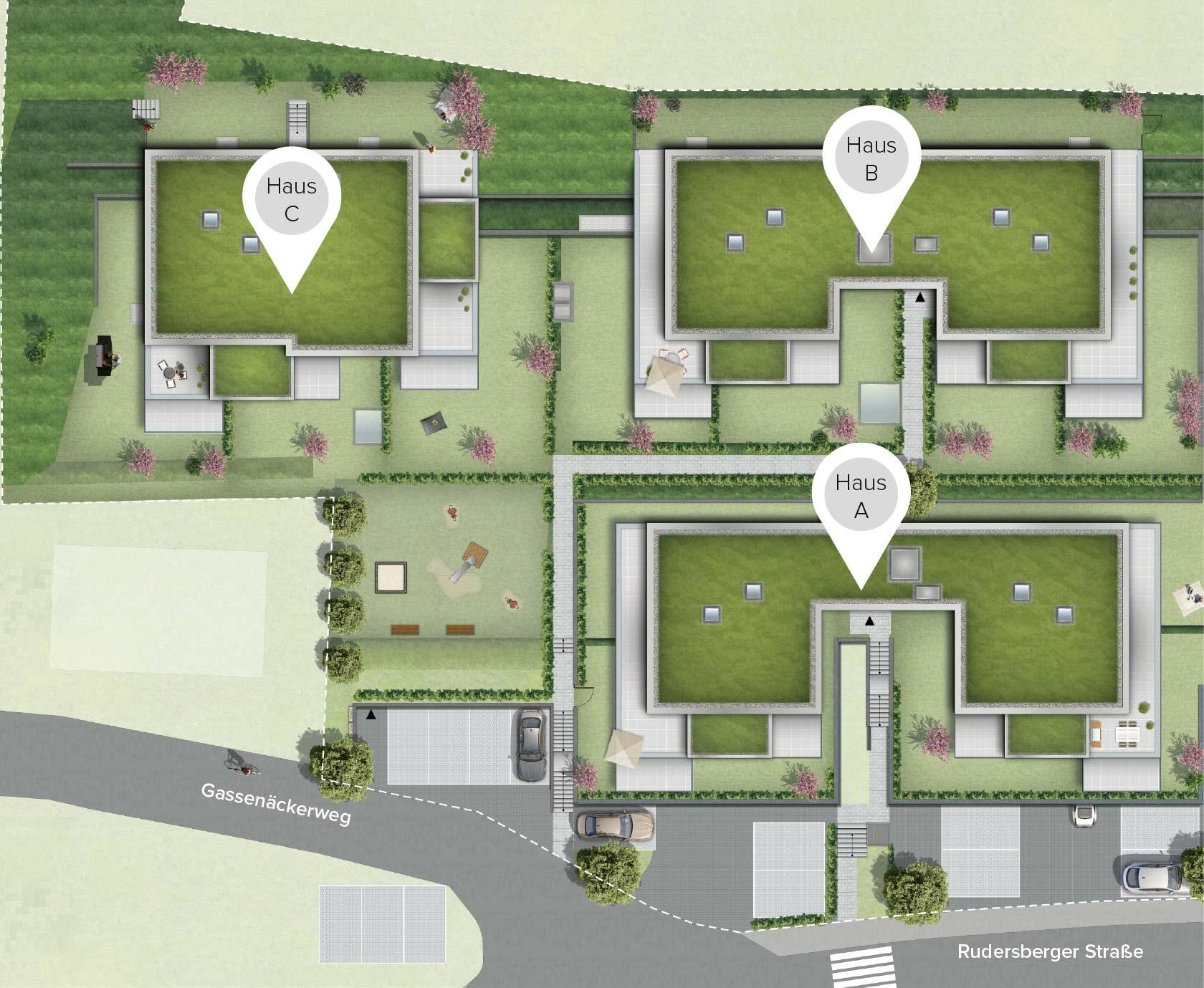 Pfleiderer Projektbau: Rudersberg Oberndorf - Lageplan