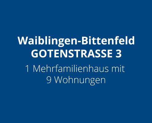 Waiblingen-Bittenfeld - GOTENSTRASSE - 1 Mehrfamilienhaus