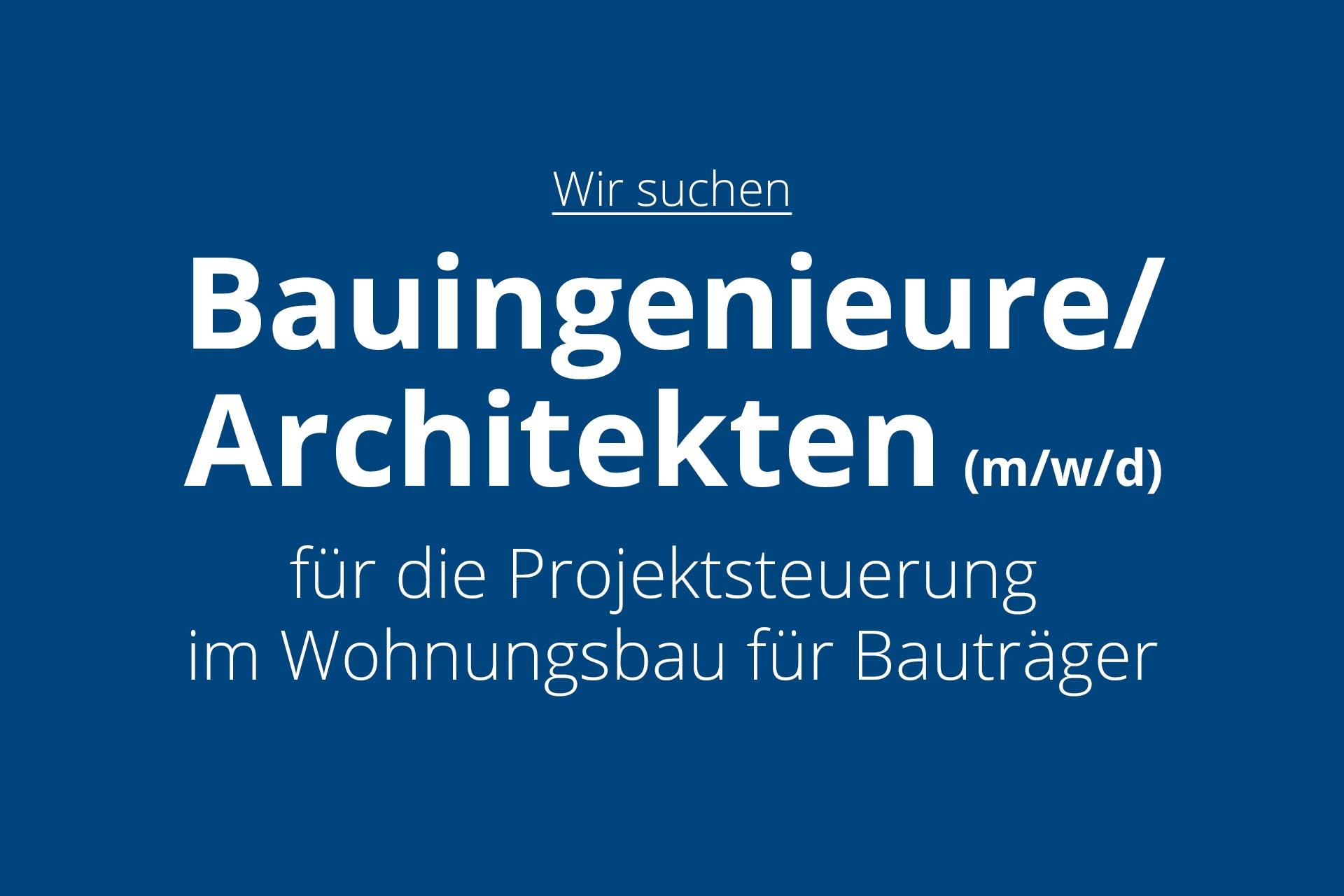 Pfleiderer Projektbau: Stellenanzeige Bauingenieur / Architekt