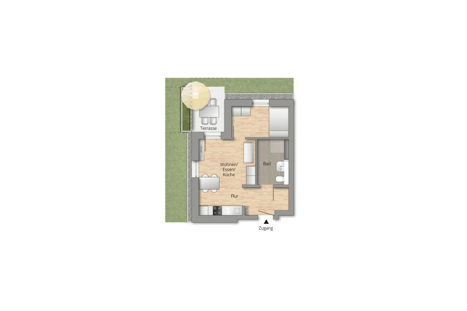 Pfleiderer Projektbau: Weinstadt-Endersbach, WOHNEN IM GRÜN, Grundriss